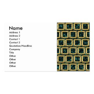 O ouro molda o teste padrão cartão de visita