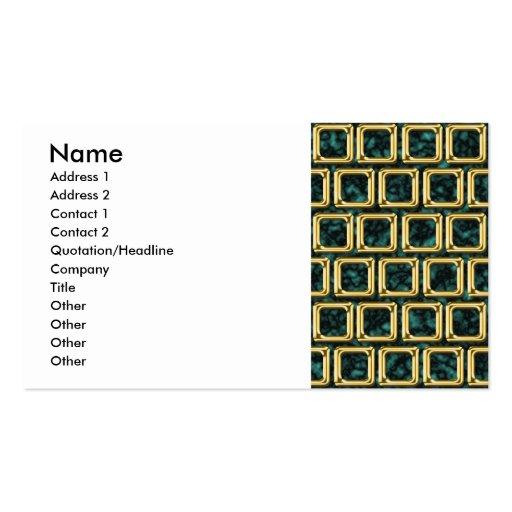 O ouro molda o teste padrão cartões de visita