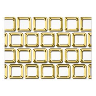 O ouro molda o teste padrão convite