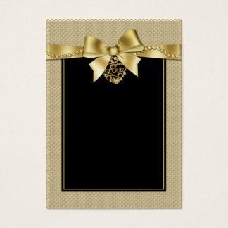 O ouro peroliza a fita em cartões pretos do
