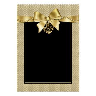 O ouro peroliza a fita em cartões pretos do assent cartão de visita grande