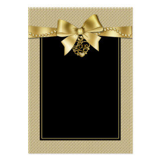 O ouro peroliza a fita em cartões pretos do cartão de visita grande
