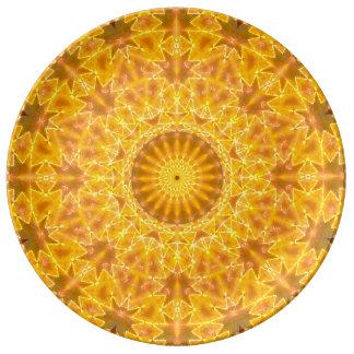 O ouro sonha a mandala pratos de porcelana