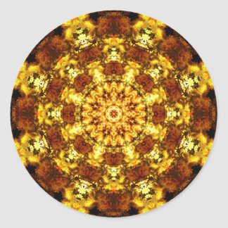 O ouro Stars a mandala Adesivo Redondo