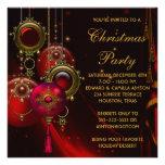 O ouro vermelho Ornaments a festa de Natal incorpo Convite Personalizados