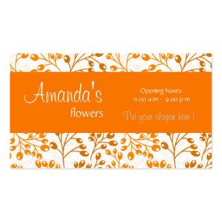 O outono alaranjado bonito frutifica cartão de vis