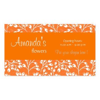 O outono alaranjado bonito frutifica cartão de vis cartões de visita