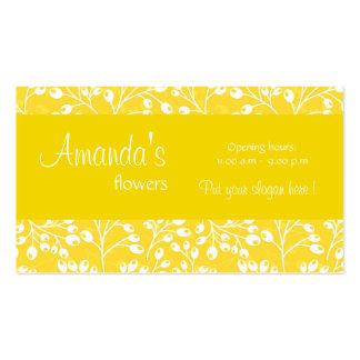 O outono amarelo bonito frutifica cartão de visita