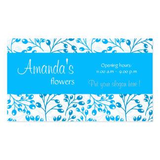 O outono azul bonito frutifica cartão de visita