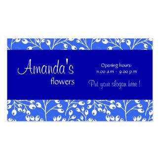O outono azul escuro bonito frutifica cartão de vi modelo cartoes de visita