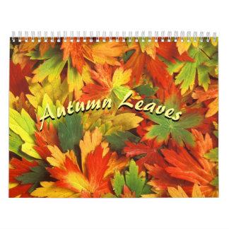 O outono colore o calendário 2017
