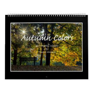 O outono colore o calendário 2017 por Thomas