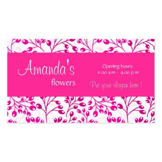 O outono cor-de-rosa bonito frutifica cartão de vi cartoes de visita