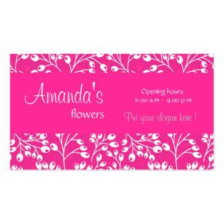 O outono cor-de-rosa bonito frutifica cartão de vi cartões de visita