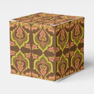 O outono exótico do vintage colore o amarelo verde caixinhas de lembrancinhas para casamentos