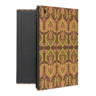 O outono exótico do vintage colore o amarelo verde capa iPad