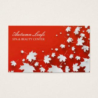 O outono folheia cartão de visita