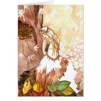 O outono sussurra cartões