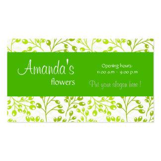 O outono verde bonito frutifica cartão de visita