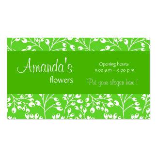 O outono verde escuro bonito frutifica cartão de v cartões de visitas