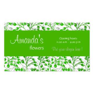 O outono verde escuro bonito frutifica cartão de v cartão de visita