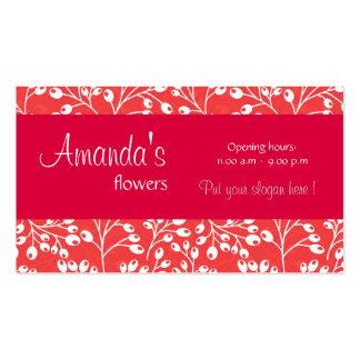 O outono vermelho bonito frutifica cartão de visit cartões de visitas