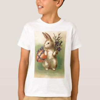 O ovo da páscoa do coelhinho da Páscoa do vintage Camisetas