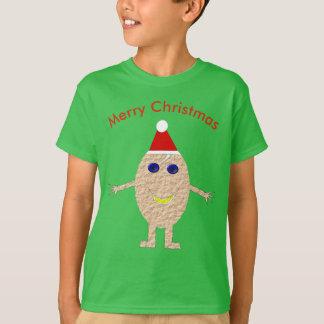 O ovo engraçado do Natal caçoa a camisa de T
