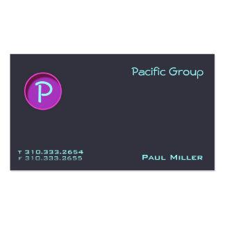O Pacífico IV Modelo De Cartões De Visita
