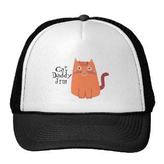 O pai alaranjado bonito do gato dos desenhos boné
