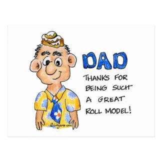 O pai é meu cartão do modelo do ROLO