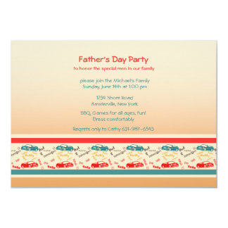 O pai exprime o convite do dia dos pais