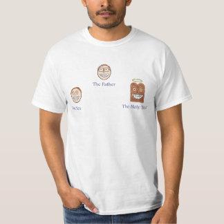 O pai, o filho, e o brinde santamente t-shirts