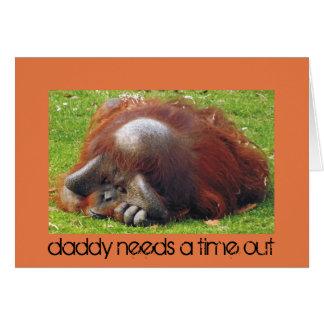 O pai precisa cartões com fotos engraçados de um