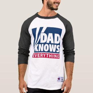 O pai sabe tudo t-shirt camiseta