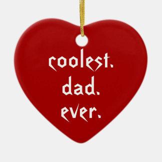 O pai sempre vermelho o mais fresco do pai do ornamento de cerâmica coração