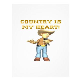 O país é meu coração modelo de panfletos