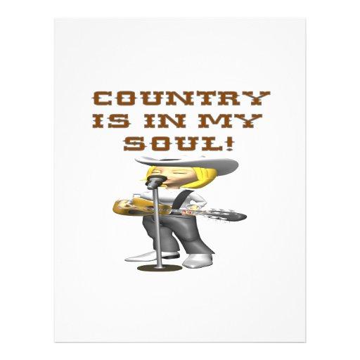 O país está em minha alma panfleto coloridos