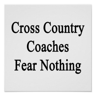 O país transversal treina o medo nada poster