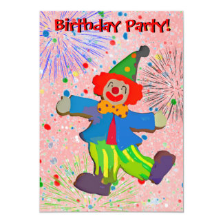 O palhaço das crianças & o convite do aniversário
