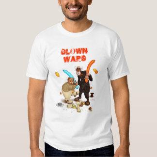 O palhaço guerreia camisa t-shirts