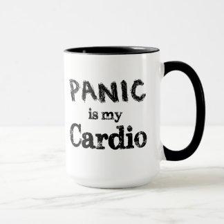 O pânico é minha cardio- caneca engraçada do