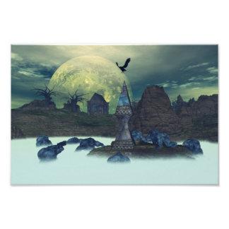 O pântano da lua impressão de fotos