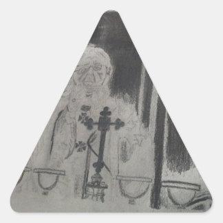 O papa pela celebridade Ishah Laurah Guillen Adesivo Triangular