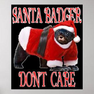 O papai noel Badger não se importa o poster