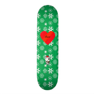 O papai noel bonito conhecido feito sob encomenda  shape de skate 20cm