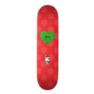 O papai noel bonito conhecido feito sob encomenda  skate boards