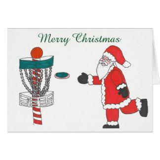 O papai noel causa o jogo do cartão de Natal do