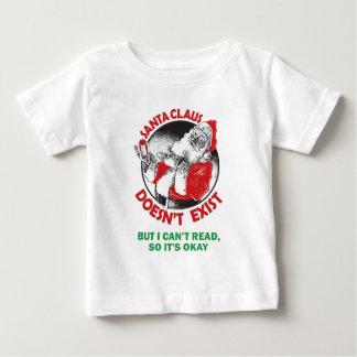 O papai noel não faz Existir-Mas eu não posso ler, Camiseta Para Bebê