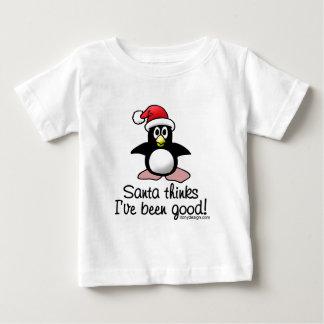 O papai noel pensa que eu fui bom! camiseta